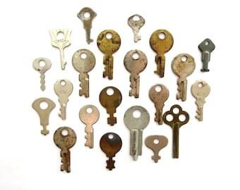 20 vintage keys, primitive keys, rustic keys, antique keys, odd little keys, rusty old keys instant collection, variety primitive keys, 1