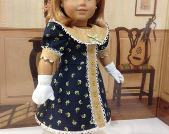 "Sunday's Best"" dress and gloves for American Girl or other similar sized 18 inch dolls"