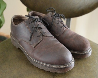 90's Brown Leather Lace Up Oxford Prima Royale Shoes