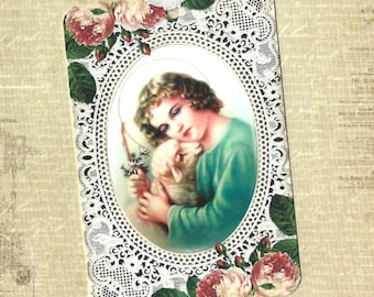 Tags, Religious, Child & Lamb, Gift Tags, Religious Tags