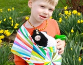 Toddler Toy - Baby Doll Sling - Toy Pouch Sling Doll Carrier - Prism - For Boys and Girls - Easy On Easy Off- No Buckles No Ties