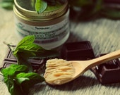 Organic Chocolate Mint Body Butter. Vegan yummy dessert for your skin. Natural with Shea and Cocoa butters