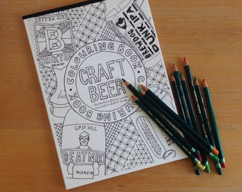 Craft Beer Colouring Book