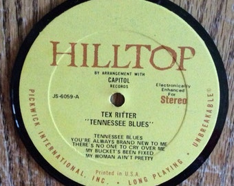 Tex Ritter Tennessee Blues Coaster