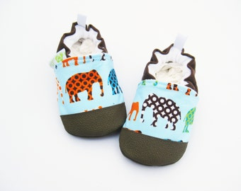 Classic Vegan Elephant / Non-slip Soft Sole Baby Shoes / Made to Order / Babies Toddlers Preschool