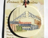 Milwaukee Public Market Ceramic-Watercolor Ornament for wall or tree plus free gift wrap, original, 100% handmade