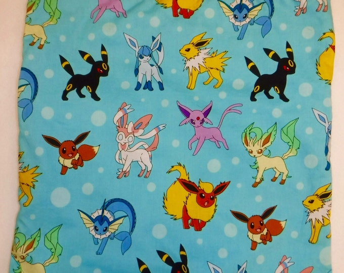 Kaufman Pokemon Collage Aqua - 2 in 1 Backpack/tote made to order