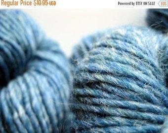 Yarn sale Knitting wool yarn - Green Mountain Spinnery - Mountain Mohair - Glacier Lake blue yarn - worsted weight knitting wool yarn - wors