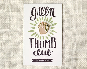Enamel Pin - Green Thumb (Light)