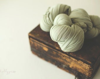 Stretch Knit Wrap - Newborn Knit Wrap - SNUG Jersey Wrap - Newborn Prop - SAGE Green Baby Wrap - Knit wrappers
