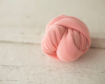 Newborn Wrap - Baby Wrap - Stretch knit wrap - Photography Prop - PETAL Pink - Plush WEAVE Knit