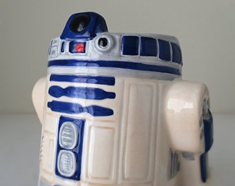 Vintage Star Wars R2-D2 Ceramic Mug - Star Wars Collectible Figurine Mug with Handle, from 1990's Applause - Star War Droid Coffee Mug