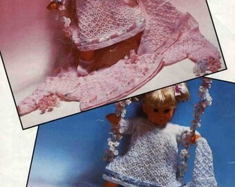 Knitting pattern for complete set to fit 16in dolls or reborns. Hayfield 00201