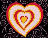 SWEETHEARTS #3- 1 Machine Embroidery Design Instant Download 4x4 5x7 6x10 hoop (AzEB)