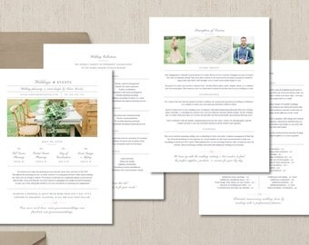 Photography Pricing Template - Wedding Planner Pricing Guide Template - Event Coordinator Pricing List - Printable Branding Templates