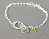 Elephant family Sterling silver bracelet, Elaphant bracelet, friendship bracelet,delicate bracelet, Life bracelet, Karma bracelet