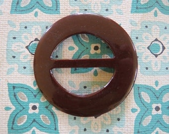 Nifty Vintage Brown Bakelite Buckle
