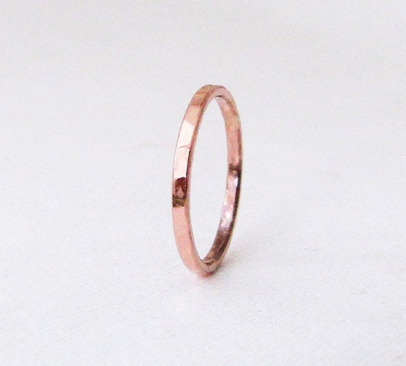 6f9968f83 Womens Wedding Band Rose Gold Ring Hammered Gold Wedding Band