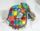 Masquerade Ball Mask - Venetian Mask -  Rhinestone Mask - Masquerade Mask - Beaded Mask - Whimsy