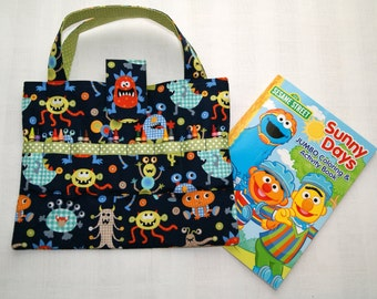 Child Travel Activity Tote, Crayon Holder, Organizer for Art Supplies, Kids Arts and Crafts Bag, Quiet Time Activity Tote, Child Gift