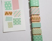 Washi Tape Sampler Stick- 7 yards- Mixed Pinks/Mint Green