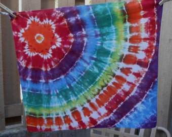 Flower Power Tie Dyed Bandana