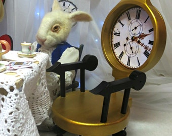 Miniature Gold Pocket Watch chair Fanciful Furniture