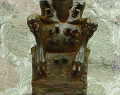 Ready to Ship Cthulhu Africanus:  COC, Lovecraft, Sculpture, African, Steampunk Handmade