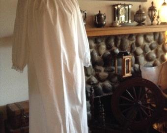 Pioneer Girls chemise Wedding flower girl Dress White cotton nightgown gown Beach Wedding Flower Girl