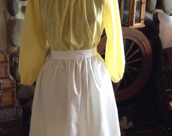 Girls Colonial Dress Prints Costume Civil War Pioneer Prairie -New