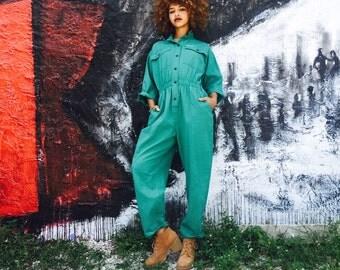 Vintage Green Jumpsuit