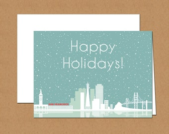 San Francisco Skyline Holiday Cards (set of 12)