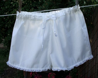 Womens Short Pantaloons XS - XLg  Cotton Lace Trim Custom Made