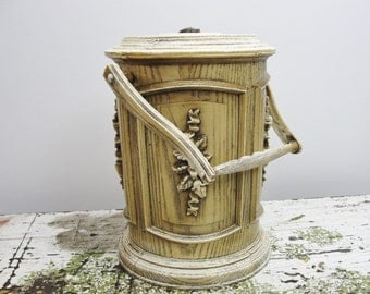 Vintage faux wood ice bucket