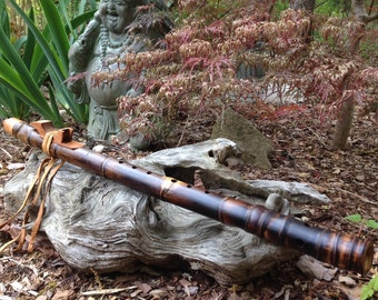 Native American Style Flute, Key of G, Bamboo and Cherry wood from Tree of Life Designs