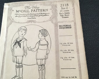 The New McCall Pattern for a little boy