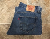 Vintage Men's 80's Levi's 501, Jeans, Blue, Red Tab, Denim (W34 x L29)