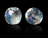 Clear Faceted AB Crystal Drum Beads (8mm)