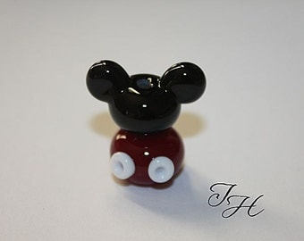Mouse Ears  Focal Handmade glass lampwork beads set by TH