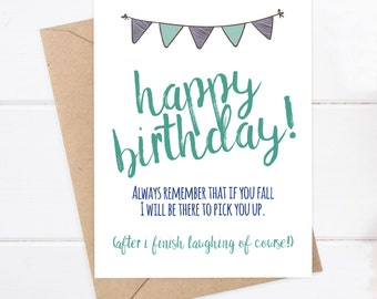 Funny Birthday Card - Funny Brother Card - Greeting Card - Older Brother Card - Brother Birthday Card - Funny Brother Card