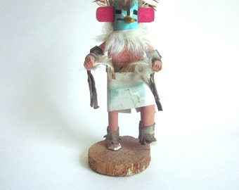 Kachina Doll Native American Figurine Wood Sculpture Roadrunner