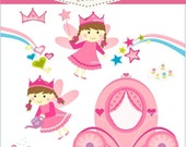 ON SALE On SALE, fairy girl clip art - pink fairy Digital clip art, girls clip art, Jpeg and Png