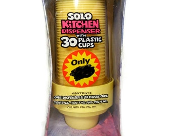 Solo Cup Kitchen Dispenser Yellow