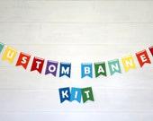 Custom Banner Kits Felt Laser Cut Banners - Rainbow