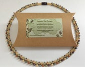 Autumn's Luster Beaded Kumihimo Necklace Kit and Tutorial, A Fully Beaded Kumihimo Necklace With Complete Instructions And Materials