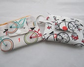 Zippy Wallet Pouch Key Cruzin Along Bicycle  or Vintage Bicycle Card holder -
