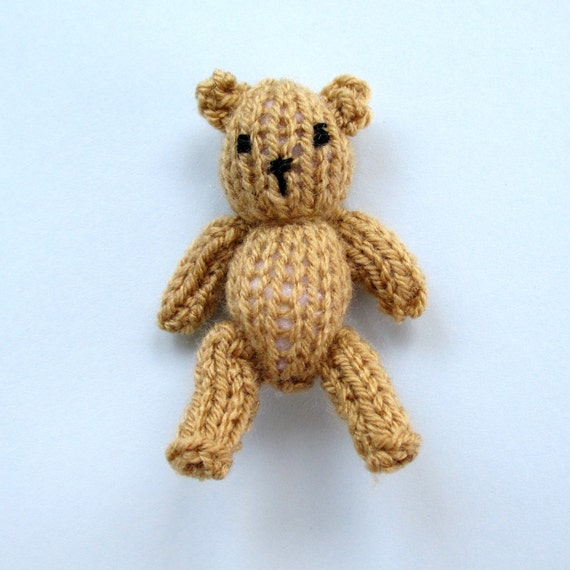 HOLLY BERRY and tiny teddy knitting pattern Pdf instant
