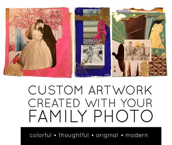 CUSTOM ARTWORK created with your FAMILY photo