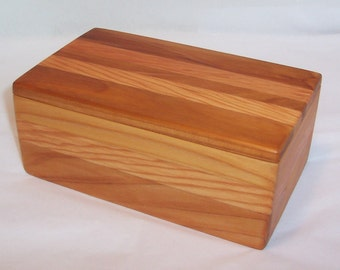 Handcrafted Reclaimed Wood Box Cedar and Fir