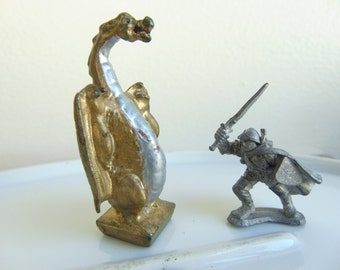 Vintage Miniature Diecast DRAGON Figure Dungeons and Dragons Gaming Figures Mattel Inc. 1980
